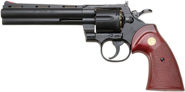 クラウンモデル「スパークリングエアガン コルトパイソン.357マグナム6インチ」製品レビュー