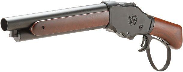 ウィンチェスターM1887ワイルドカード ガスショットガン リアルウッドBlackワイドレバー