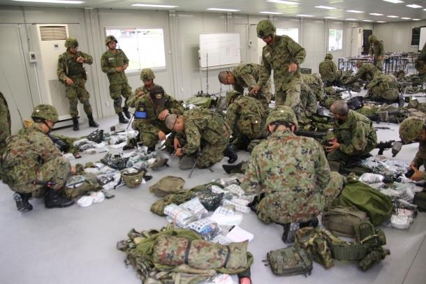 陸上自衛隊 レンジャー課程行動訓練