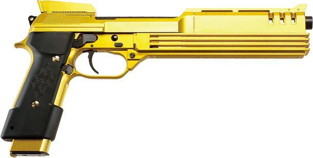 KSC M93Rオート9 ゴールドフレークABS ガスブローバックガン